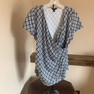 Talbots faux wrap top-very flattering